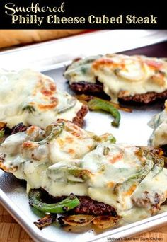 Smothered Philly Cheese Cubed Steak