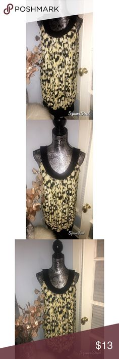 Animal print dress with thick straps Silky animal print dress, perfect for a night out on the town! Cute paired with a mini belt to show off your waist. Dresses Midi