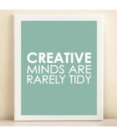 I think this needs to go in my office.  Aqua Creative Minds print poster by AmandaCatherineDes on Etsy, $15.00