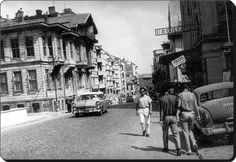 Kadikoy - Bahariye Downhill from Süreyya Cinema - - Today Pin Old Pictures, Old Photos, Istanbul Pictures, Historical Pictures, Istanbul Turkey, Movie Theater, Once Upon A Time, Old Town, The Past