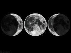 The Triple Goddess symbol; waxing moon, full moon, waning moon. I have this tattooed on my shoulder.