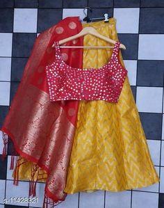 Lehengas DESIGNER BOLLYWOOD LEHENGA CHOLI Topwear Fabric: Silk Blend Bottomwear Fabric: Soft Silk Dupatta Fabric: Soft Silk Set type: Choli And Dupatta Top Print or Pattern Type: Mirror Work Bottom Print or Pattern Type: Jacquard Dupatta Print or Pattern Type: Jacquard Sizes:  Semi Stitched (Lehenga Waist Size: 42 in Lehenga Length Size: 42 in Duppatta Length Size: 2.5 m) Country of Origin: India Sizes Available: Semi Stitched   Catalog Rating: ★4.3 (469)  Catalog Name: Classy Stylish Banarasi Jacquard Silk Women's Lehenga Vol 14 CatalogID_1823060 C74-SC1005 Code: 1721-11428321-