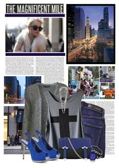 """""""Magnificent Mile"""" by heidior ❤ liked on Polyvore featuring Nobody Denim, Miss Selfridge, Reiss, Britney Spears, Madden Girl, cardigan, glitter, royal blue, magnificent mile and chic"""