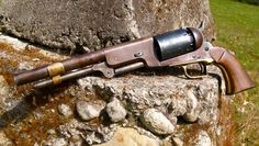 1847 Colt Walker Revolver w/loading lever keeper clip  - note the scratch marks on the barrel.