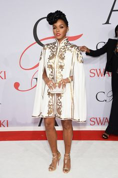 Janelle Monae | All The Looks From The 2015 CFDA Fashion Awards