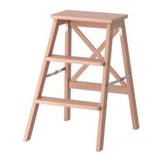 IKEA - BEKVÄM, Stepladder, 3 steps, beech, Can be folded to save space. Solid wood is a hard-wearing natural material that you can sand and treat the surface as needed. Ikea Inspiration, Bekvam Ikea, Kitchen Step Stool, Step Stools, Faia, Hemnes, Space Saving, Home Furnishings, Ladder