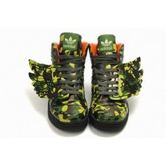 huge discount 9ae08 d754f Perfect Mens Jeremy Scott x Adidas JS Wings Camouflage Shoes For £77.72