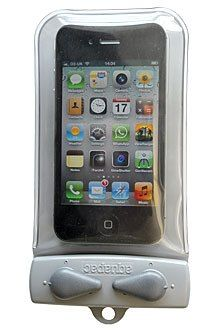 Aquapac Waterproof Case for iPhone is air- & watertight, still allowing you to use your device's touchscreen