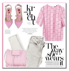Pink day. by zeljkaa on Polyvore featuring polyvore fashion style MSGM Valentino Balenciaga clothing