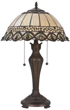 klassische TIFFANY-Lampe ANTWERPEN.  Ø 40*58 cm 2x E27 max 60w.  ...aus hochwertigen Stained-Glass-Teilen sorgfältig hand gefertigt.