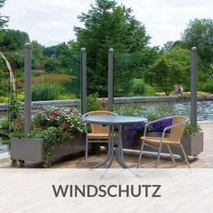 Windschutz Aus Glas Für Garten Und Terrasse