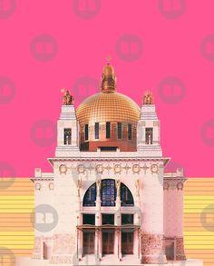ARCHITECTURE Kirche am Steinhof Wien heiliger Leopold Jugendstil Kirchen, Taj Mahal, Poster, Shopping, Building, Travel, Catwalk, Design, Shirts