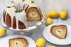 Bábovka plnená citrónovým krémom | Recepty.sk Creme Brulee, Camembert Cheese, French Toast, Bread, Breakfast, Food, Basket, Morning Coffee, Creme Caramel