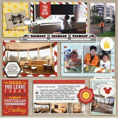 Disney Project Life scrapbooking page miki_nenn featuring Project Mouse by Sahlin Studio & Britt-ish Designs