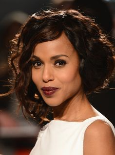 Kerry Washington's gorgeous berry shade. We like LipFusion Color Shine in 'Ripe' to recreate this