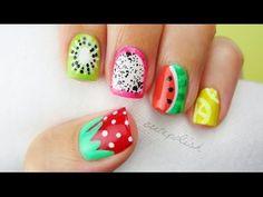 5+Summer+Fruit+Nail+Art+Designs!