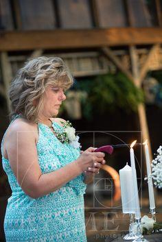 Mom lighting unity candle