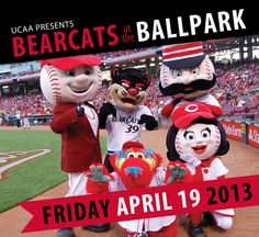 Join the whole UC family for Bearcats at the Ballpark, when the Cincinnati Reds host the Miami Marlins and UC takes over the Great American Ball Park on Friday, April 19. Get details and buy your tickets: http://uc.edu/alumni/reds