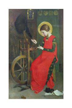 St. Elizabeth of Hungary Spinning Wool for the Poor, C. 1895 Giclee Print by Marianne Stokes at AllPosters.com