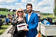 "AMBI Group producers Andrea Iervolino and Monika Bacardi on set of ""Lavender"" in Canada!"