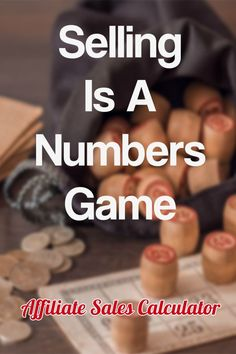 Whilst there is a great deal to learn about selling, at the end of the day it is a numbers game. Learn more about the numbers and my affiliate sales calculator here. Number Games, Calculator, Affiliate Marketing, Numbers, Learning, Numeracy, Teaching, Studying