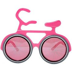 4c368dfc230 Bicycle Novelty Sunglasses Party Glasses Pop Art Pink Frame Novelty  Sunglasses