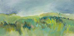 'Furzedown' Dartmoor landscape painting on wood by Alice Sheridan