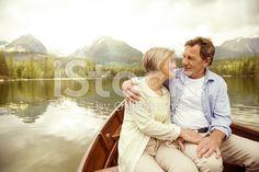 Senior couple on boat royalty-free stock photo
