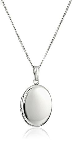Sterling Silver Polished Oval Locket Necklace >>> Read more  at the image link.