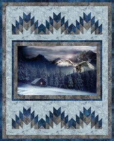 Free Quilt Pattern - Call of the Wild Mystic Owl - from https://www.equilter.com/pattern/999/call-of-the-wild-mystic-owl?fn=pa_20180531194605