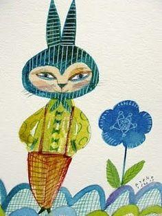 Ryoko Ishii's watercolour illustrations bring to mind many wonderful illustrators, such as Brian Wildsmith and Kveta Pacovska.