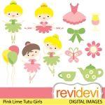 Illustrations & Cliparts - Spring Tutu Girls - MYGRAFICO - DIGITAL ARTS AND CRAFTS STORE