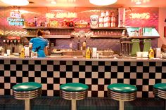 Picture of the 66 Diner in Albuquerque, New Mexico