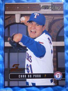 2003 Donruss Studio Proof CHAN HO PARK #84 #043/100 Rangers Dodgers #TexasRangers