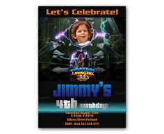 The Adventures of Sharkboy and Lavagirl Kids Birthday Invitation Party Design
