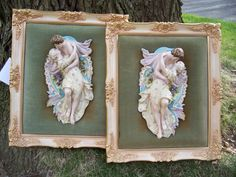 2 Vintage  French  Bisque Angel figures by trufflepigtreasures, $125.00