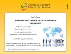"""Workshop """"Alternativas y Gestión de Financiamento para Pymes"""" con la lic.Lucia Lanese, experta en gestión financiera. Martes 21 de abril 2015; hs. 18-20"""