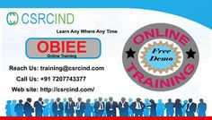 OBIEE #ONLINE #TRAINING @#Csrcind  http://csrcind.com/online-training/obiee-11g/  Visit the above link for course details:  Interested in joining  Pls Contact us or email us:  Call  : +91- 7207743377  MAIL: csrcind.hyd@gmail.com  Website URL: http://csrcind.com/