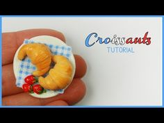 polymer clay Croissants TUTORIAL - YouTube