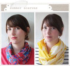 summer cowl scarf!