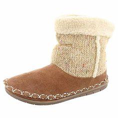 13935af604f35 Amazon.com | Foamtreads Women's Alpine Bootie Slipper Tobacco 8 M US |  Slippers