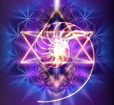 "Merkaba is used to reach the higher realms. ""Mer"" means Light. ""Ka"" means Spirit. ""Ba"" means Body. Mer-Ka-Ba means the spirit/body surrounded by counter-rotating fields of light, spirals of energy as in DNA, which transports spirit/body from one dimension to another."