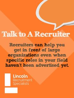 Talk to a recruiter. Lincoln Recruitment Specialists, job tips, accounting and finance work career tips