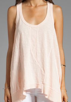 WILT Paneled Slouchy Tank in Clay at Revolve Clothing - Free Shipping!