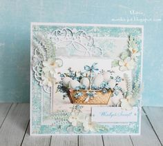 Blue Easter by Monia - Cards and Paper Crafts at Splitcoaststampers