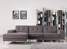 This is a stunning sectional that will add luxurious charm to any living space. It features a subtle color that will impress your friends and catch some eyes. Its beautiful and sturdy design will have