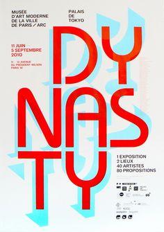 Pierre Perronnet et Wijntje van Rooijen: affiche pour l'exposition Dynasty au Musée d'Art Moderne et au Palais de Tokyo à Paris