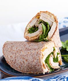 Turkey and Spinach Wraps with creamy hummus and crunchy pine nuts -- just delicious for Phase 3. Get the recipe from our newsletter.