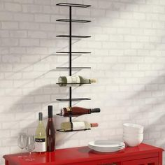 Wade Logan Paige 9 Bottle Wall Mounted Wine Rack  #design #graphic #creative #digitalart #sketchbook #graphics #gallery #picture #digitalpainting #conceptart   click store link for more information or to purchase the item