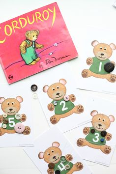 Have fun with some Corduroy Math after reading the book by Don Freeman. Free printables work on 1-1 correspondence, number recognition, and skip counting!